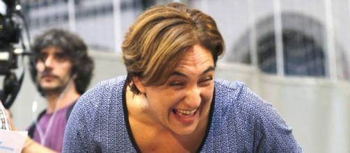 Ada Colau durante un acto público
