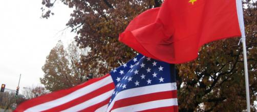 American and Chinese flags - futureatlas via Flickr.com