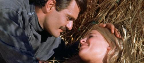 Omar Sharif e Julie Christie em Dr. Jivago