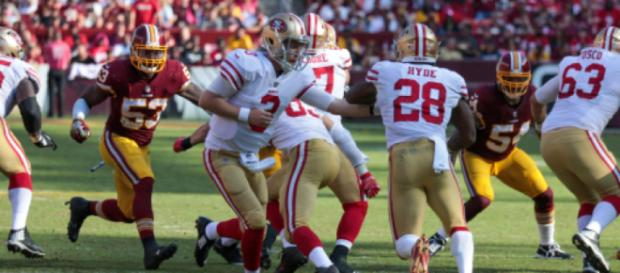 C. J. Beathard threw for two touchdowns on Sunday and ran for another. Image Source: Flickr | Keith Allison