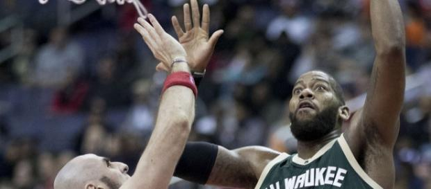 Greg Monroe averaged 6.8 points in five games with Bucks this season (Image Credit: Keith Allison/WikiCommons)