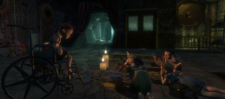 "Bioshock's creepy children, the ""Little Sisters"" [video game screen cap]"