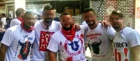 """Integrantes de """"La Manada"""" en Pamplona"""