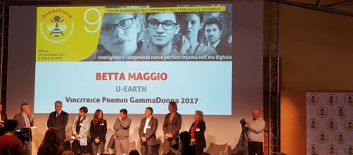 Betta Maggio di U-Earth vince il premio Gamma Donna 2017