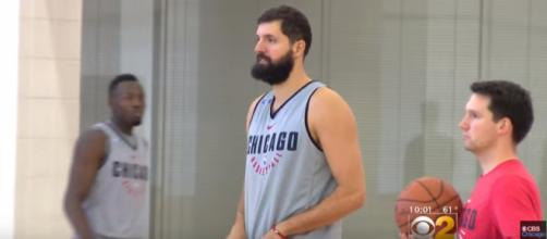 Nikola Mirotic returned to the Advocate Center Monday [Image - CBS Chicago / Youtube]