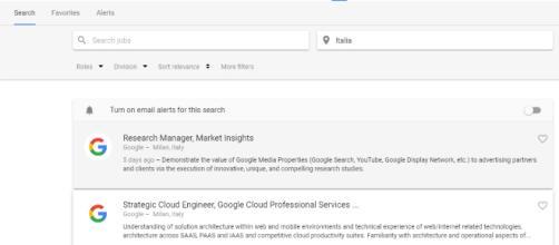 offerte di lavoro google, come candidarsi