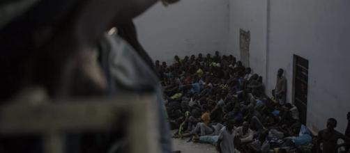 There is an active slave trade in Libya [Image via Thomson Reuters Foundation/YouTube]