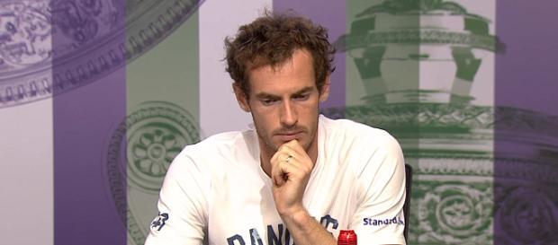 Andy Murray during a press conference at Wimbledon. (Image Credit: Wimbledon/YouTube screencap)