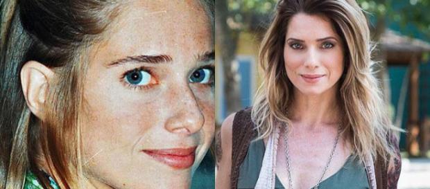 Antes e depois de Letícia Spiller