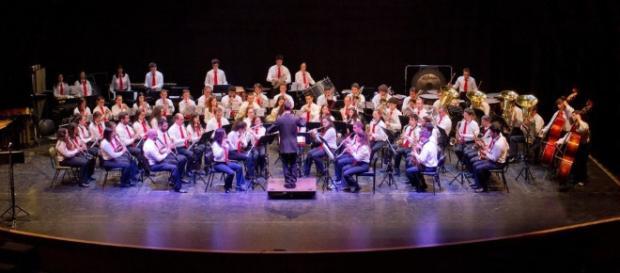 Banda Antas apresentando-se na edição de 2015 do concurso de Bandas de Braga