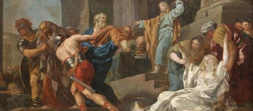 Daniel intervenes and saves Susanna. François-Guillaume Méneageot commons.wikipedi.org