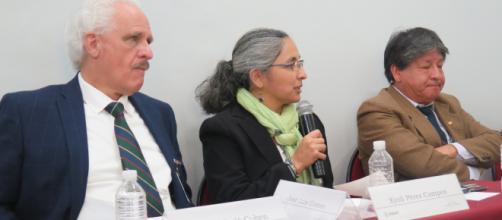Manuel Perló Cohen, Xyoli Pérez Campos y Javier Lermo.