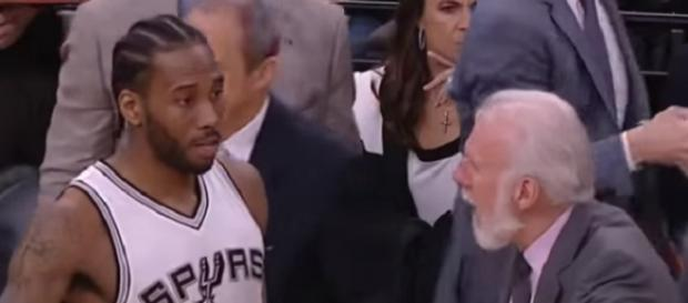 Gregg Popovich misses his main weapon, Kawhi Leonard (Image Credit: Overlooking the Obvious/YouTube)