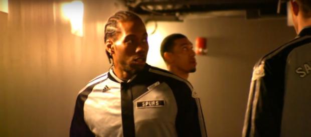 Kawhi Leonard is one of the guys currently sidelined for the San Antonio Spurs -- [Image via NBA via YouTube]