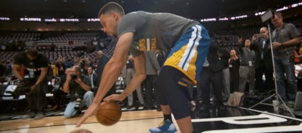 Stephen Curry could be out for the Warriors when they play the Celtics on November 16 -- NBA via YouTube