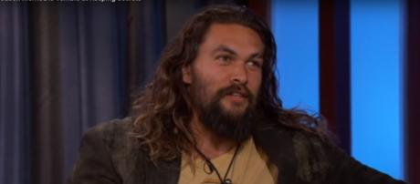 Jason Momoa talks about the possible connection between Aquaman and Superman. [Jimmy Kimmel Live/YouTube screencap]