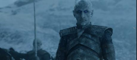 """The Night King and his army of White Walkers invade The North in """"Game of Thrones"""" season 8. [Image Credit:Talking Thrones/YouTube]"""