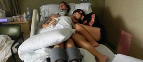 A vida do rapaz foi salva graças ao amor de sua mulher