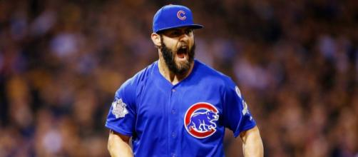Could Jake Arrieta be coming back to the Cubs after all? [Image via Cubs.com/YouTube]