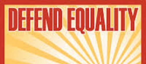 "Equality for everyone is easy - stop talking about it [ image source: ""Defend Equality Now"", California Proposition 8 /Wiki Commons]"