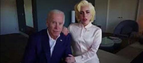 Lady Gaga and Joe Biden become partners again in creating trauma centers for abuse victims. [Image via APlus screencap/YouTube]