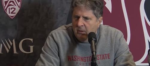 Mike Leach after WSU beat Utah. - [WSUCougarAthletics / YouTube screencap]