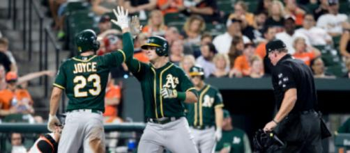 Ryon Healy was acquired by the Mariners on Wednesday. Image Source: Flickr | Keith Allison
