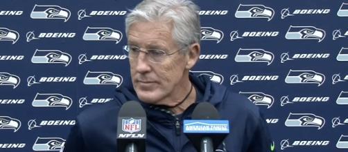 Seahawks head coach Pete Carroll speaking with the media. - [Seattle Seahawks / YouTube screencap]