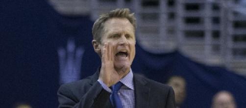 Steve Kerr praises Celtics coach Brad Stevens and Kyrie Irving (Image Credit: Keith Allison/WikiCommons)