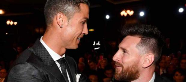 Cristiano Ronaldo com Messi na festa da Fifa: ''The Best''