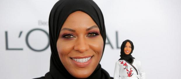 First hijab-wearing Barbie Doll to honor US fencer Ibtihaj Muhammad [image credit: Reuters/Youtube screencap]