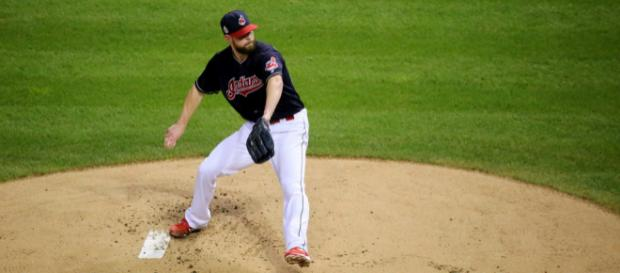 Kluber pitching for the Indians - image - Flickr.com