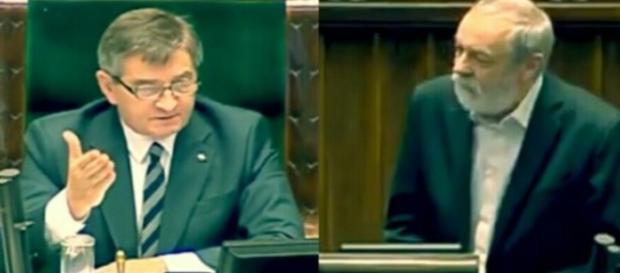 Marek Kuchciński stawia do pionu PO-wca (scrn youtube.com)