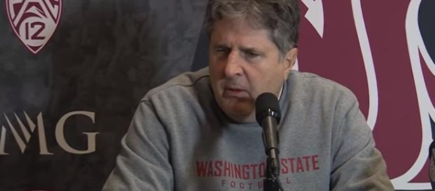 Mike Leach after WSU beat Utah. - [WSUCougarAthletics / YouTube screencap]