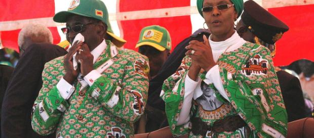 Robert and Grace Mugabe - Wikimedia commons photo.