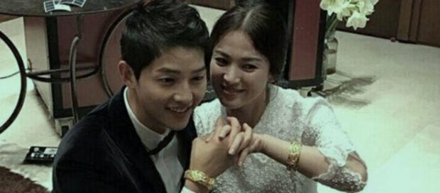 Song Joong-Ki and Song Hye-Kyo. [Image Credit: @iam_loveee/Twitter]