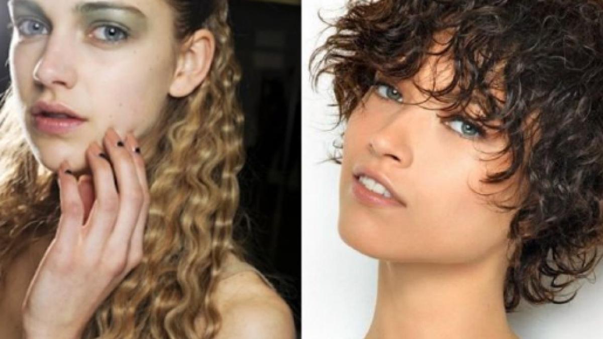 Taglio di capelli ricci immagini
