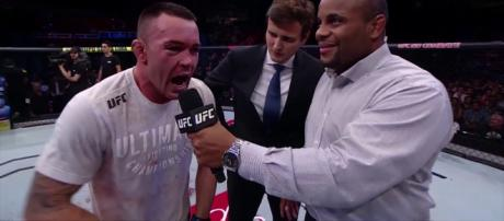 "In a recent interview, Colby Covington had some ""not so nice"" things to say about fellow UFC fighter Jon Jones. [Image via UFC/YouTube screencap]"