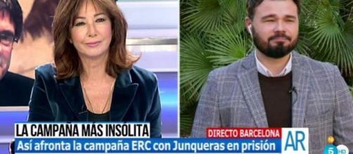 Ana Rosa a Rufián: 'Tiene suerte de no haber vivido en la época de ... - lavanguardia.com