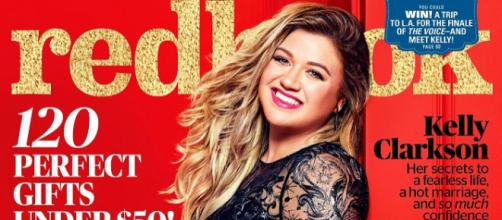 Kelly Clarkson boasts weight gain, not weight loss for happy sexual health. Source Youtube Redbook