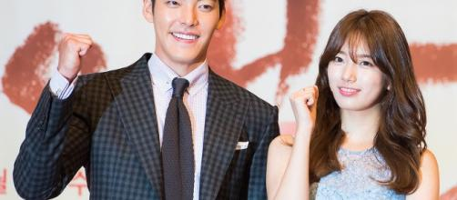 "Kim Woo-bin and Bae Suzy at ""Uncontrollably Fond"" press conference, July 4, 2016 [image credit: Yoon Min-hoo/Wikimedia Commons]"