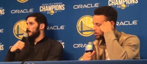 Warriors shooters Omri Casspi and Stephen Curry -- Ball Don't Lie via YouTube