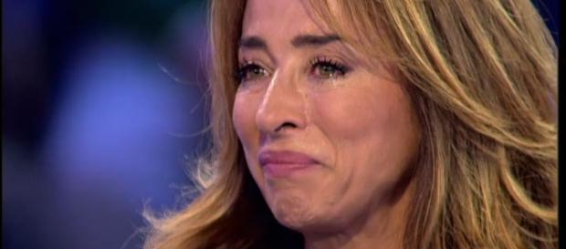 María Patiño emocionada en Sálvame.