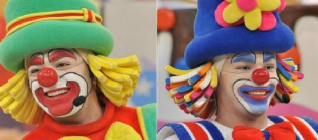 Palhaços do SBT surgem sem maquiagem