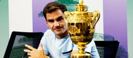 Roger Federer won his eighth Wimbledon title earlier this year. (Image Credit: Wimbledon/YouTube screencap)