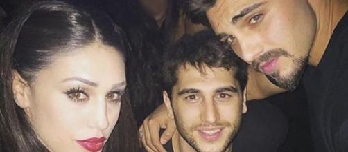 Cecilia Rodriguez con il fratello Jeremias e Francesco Monte