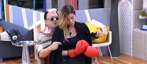 Cristiano Malgioglio e Aida Yespica