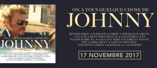 """L'album de reprises de Johnny Hallyday """"On a tous quelque chose de Johnny"""" sort aujourd'hui, 17 novembre 2017"""