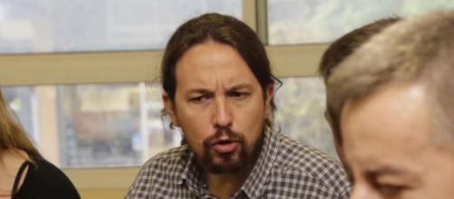 Pablo Iglesias, dirigente de la formación morada