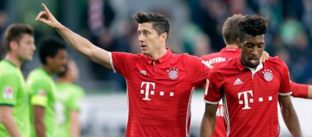 Zwei Leistungsträger des FC Bayern München: Lewandowski und Coman - stern.de